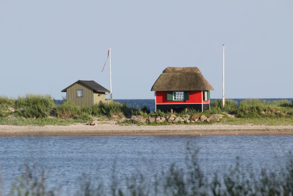 Strandhäuser in Marstal